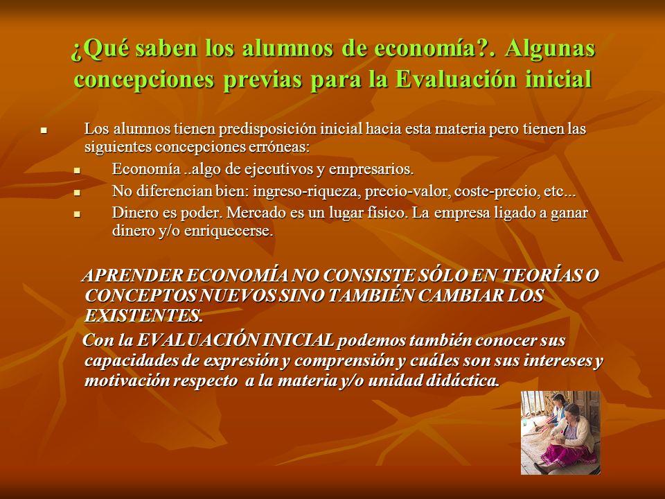 ¿Qué saben los alumnos de economía?.