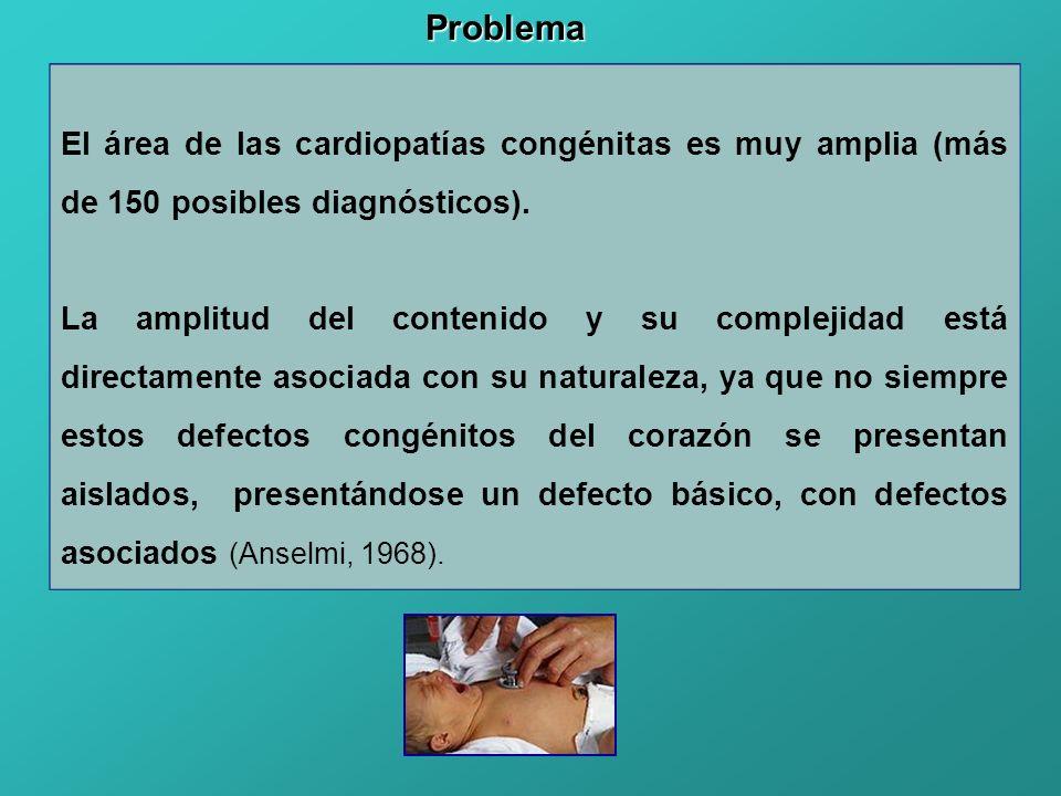 El área de las cardiopatías congénitas es muy amplia (más de 150 posibles diagnósticos). La amplitud del contenido y su complejidad está directamente