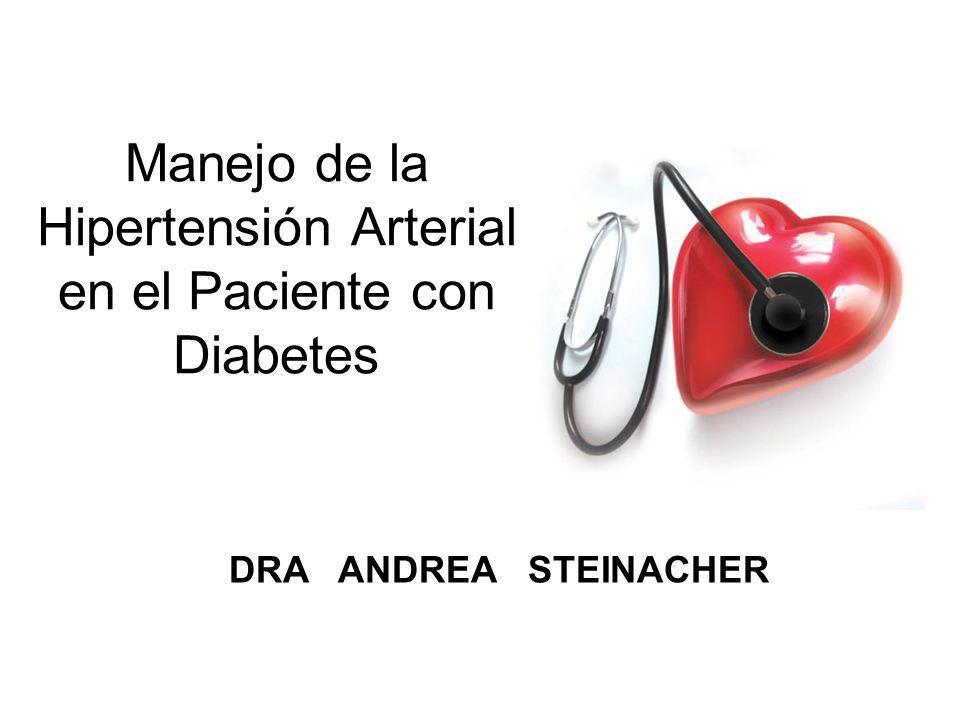 Manejo de la Hipertensión Arterial en el Paciente con Diabetes DRA ANDREA STEINACHER