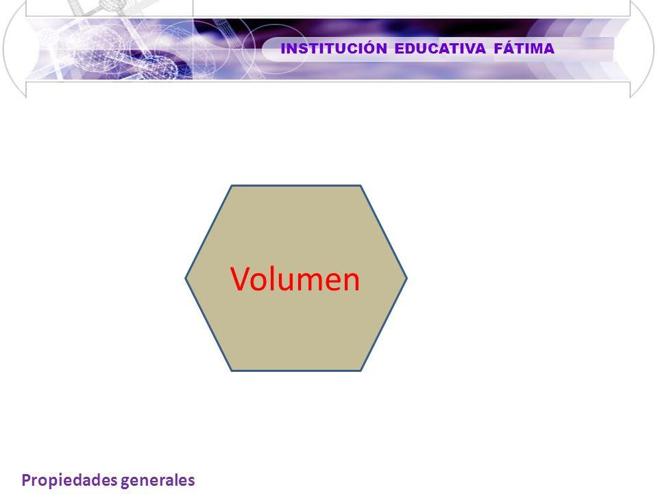 INSTITUCIÓN EDUCATIVA FÁTIMA Volumen Propiedades generales