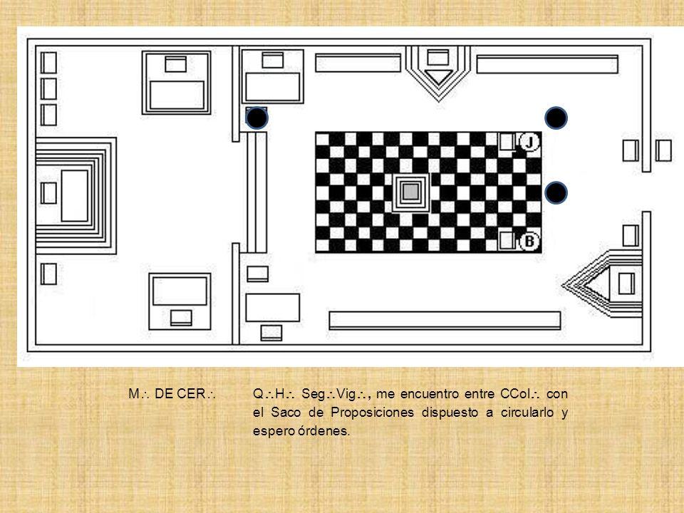 SEG VIG Q H Prim Vig, nuestro Q H M de Cer, con el saco de Prop, se encuentra entre CCol dispuesto a circularlo y espera órdenes.