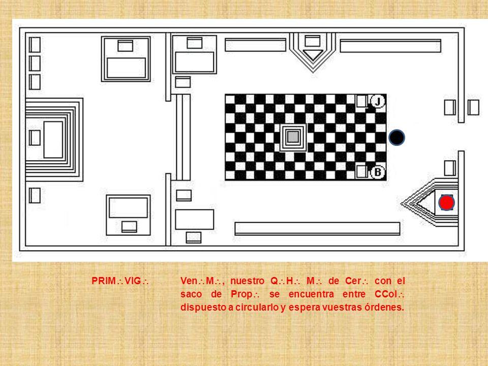 PRIM VIG Ven M, nuestro Q H M de Cer con el saco de Prop se encuentra entre CCol dispuesto a circularlo y espera vuestras órdenes.
