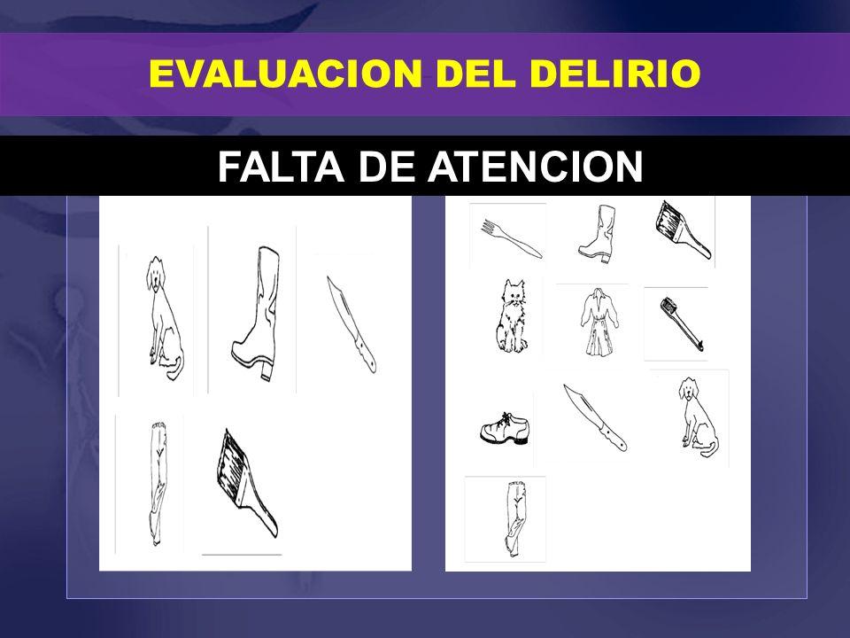 EVALUACION DEL DELIRIO FALTA DE ATENCION