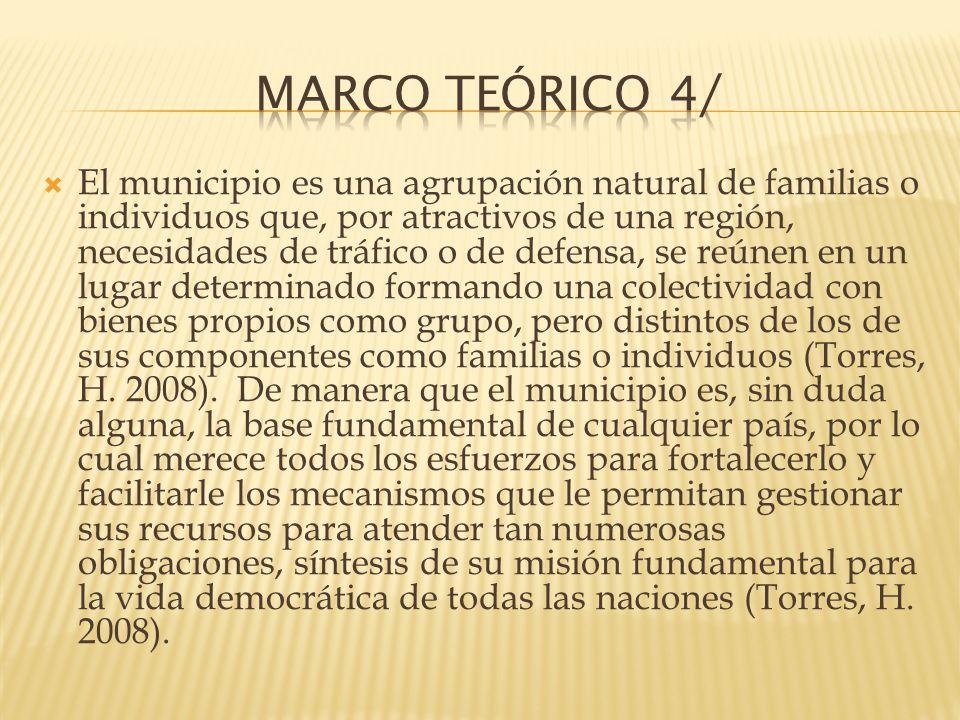 El municipio es una agrupación natural de familias o individuos que, por atractivos de una región, necesidades de tráfico o de defensa, se reúnen en u