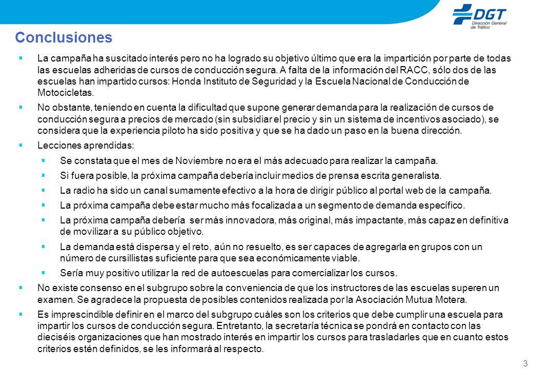 4 1.La DGT se pondrá en contacto con el Ayuntamiento de Madrid para explorar la posibilidad de utilizar espacios públicos titularidad del ayuntamiento para la impartición de cursos de conducción segura.