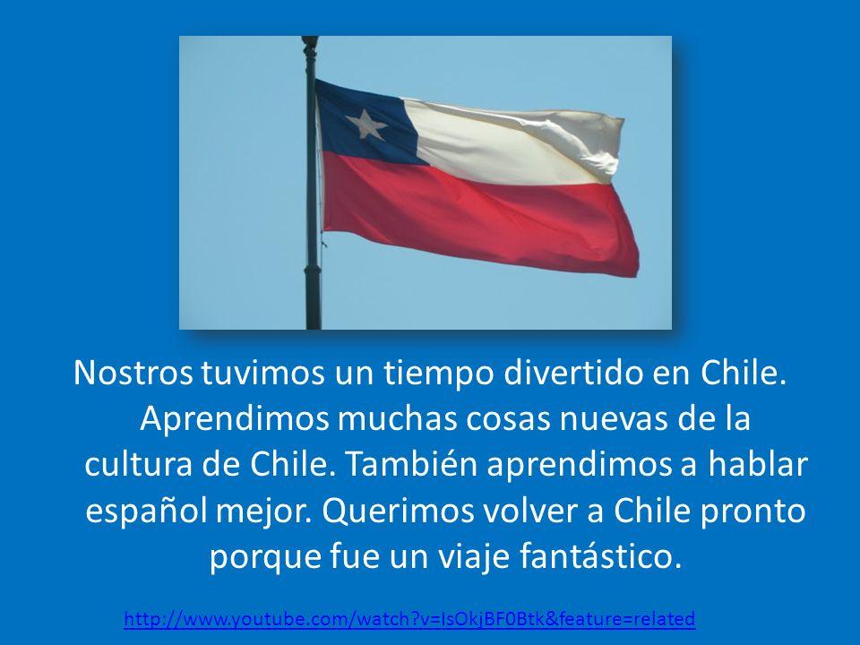 Nostros tuvimos un tiempo divertido en Chile.