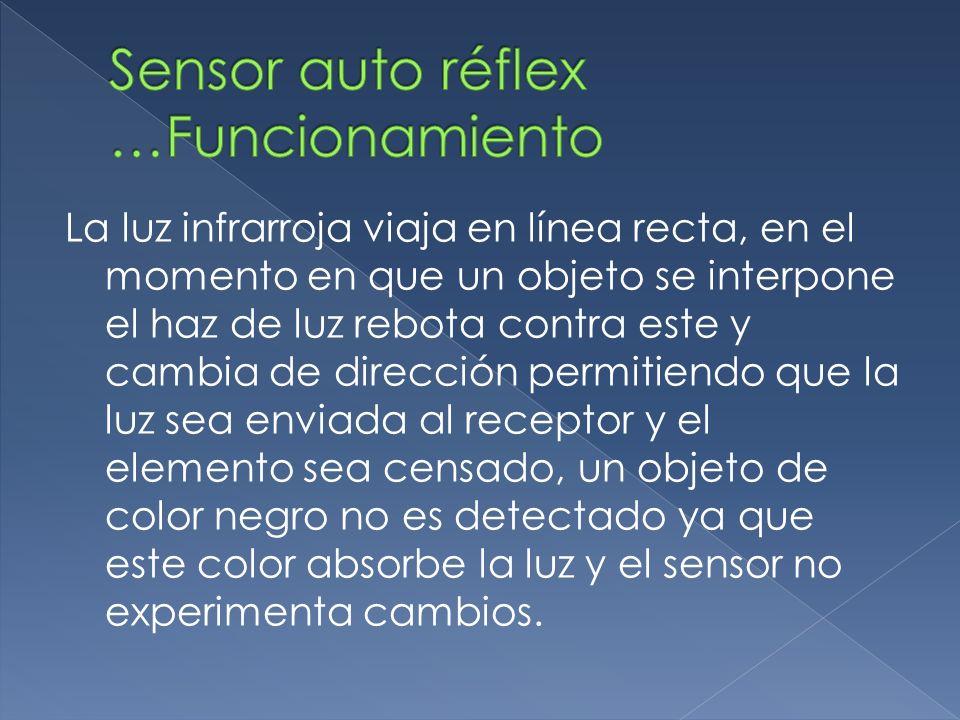 La luz infrarroja viaja en línea recta, en el momento en que un objeto se interpone el haz de luz rebota contra este y cambia de dirección permitiendo