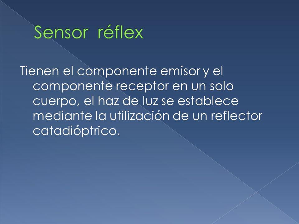 Tienen el componente emisor y el componente receptor en un solo cuerpo, el haz de luz se establece mediante la utilización de un reflector catadióptri