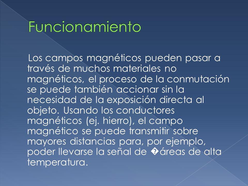 Los campos magnéticos pueden pasar a través de muchos materiales no magnéticos, el proceso de la conmutación se puede también accionar sin la necesida