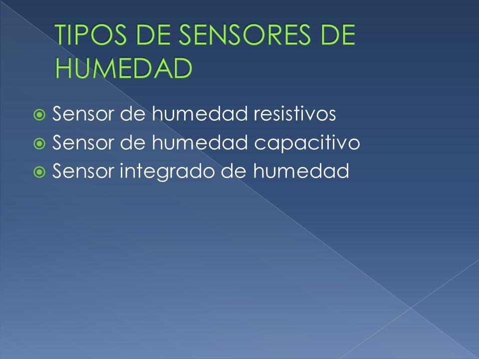 Sensor de humedad resistivos Sensor de humedad capacitivo Sensor integrado de humedad