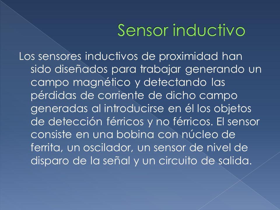Los sensores inductivos de proximidad han sido diseñados para trabajar generando un campo magnético y detectando las pérdidas de corriente de dicho ca