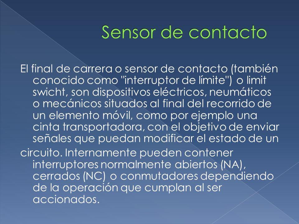 El final de carrera o sensor de contacto (también conocido como