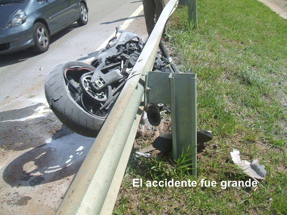 El accidente fue grande