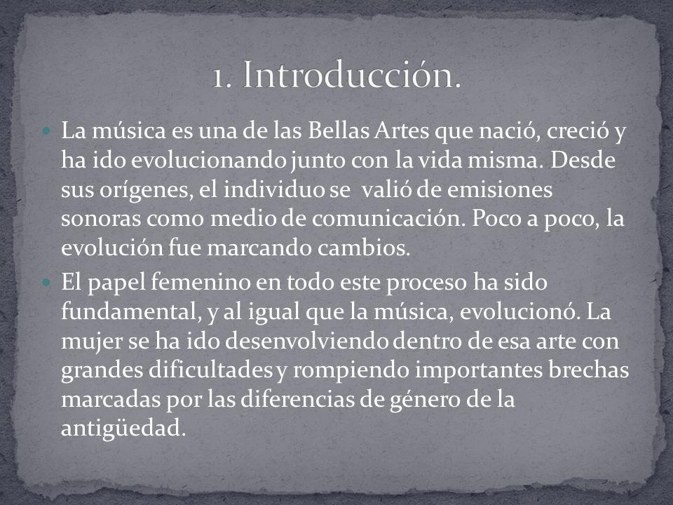 La música es una de las Bellas Artes que nació, creció y ha ido evolucionando junto con la vida misma.