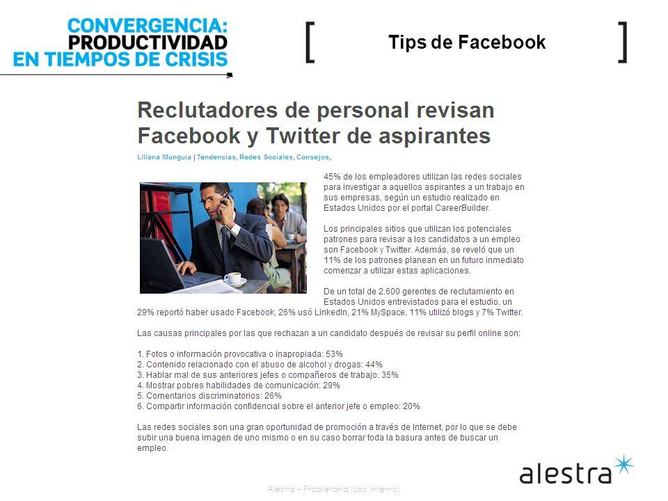 Alestra – Propietaria (Uso Interno) Tips de Facebook