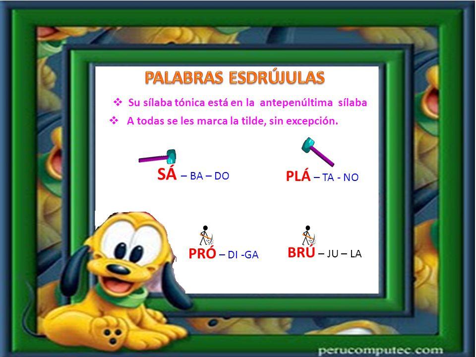 Su sílaba tónica está en la Penúltima sílaba Sólo se les marca la tilde si terminan en consonantes diferentes de N, S o vocal.