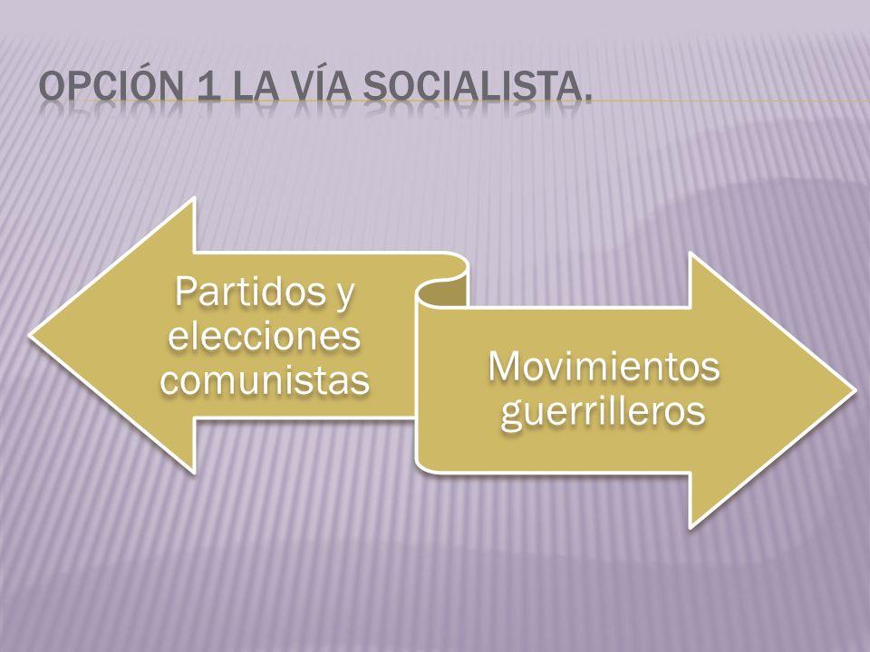 Ideología Marxistas Conflictos de clases, desigualdades sociales en toda la región.