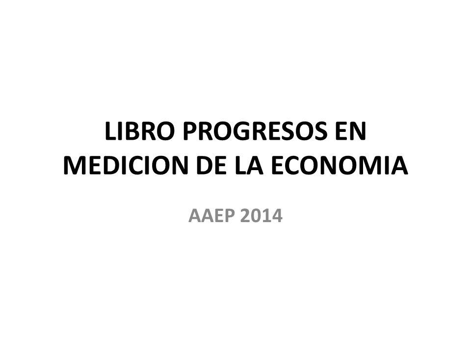 LIBRO PROGRESOS EN MEDICION DE LA ECONOMIA AAEP 2014