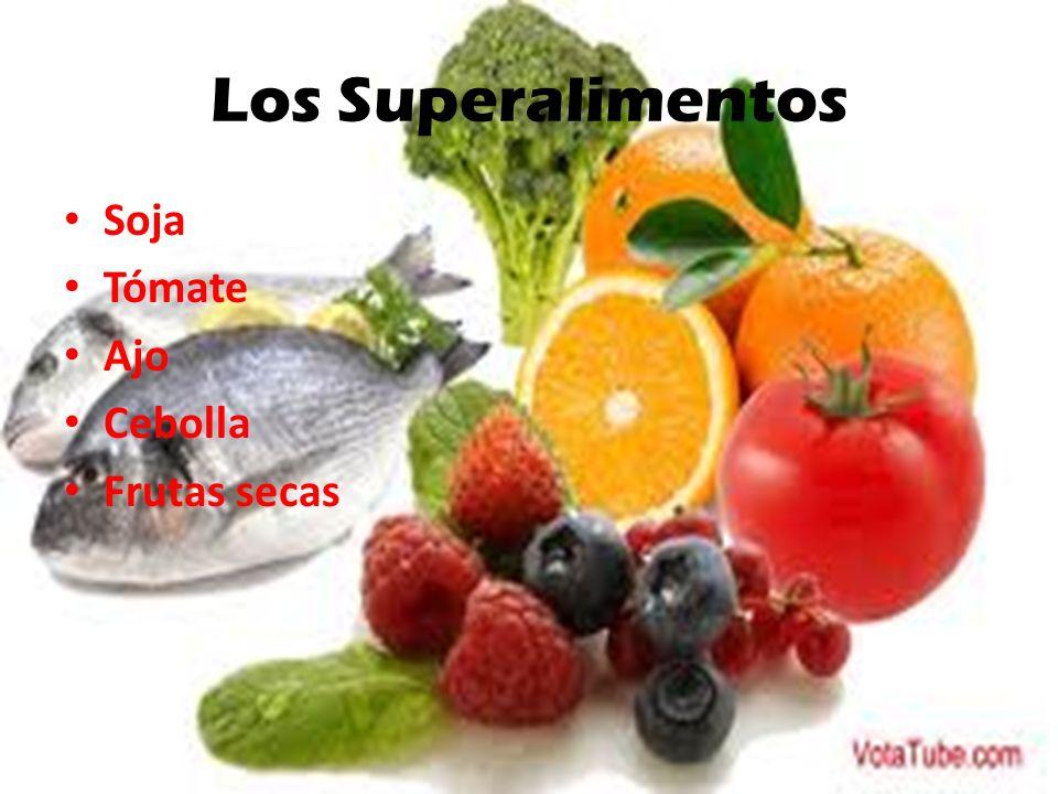 Los Superalimentos Soja Tómate Ajo Cebolla Frutas secas