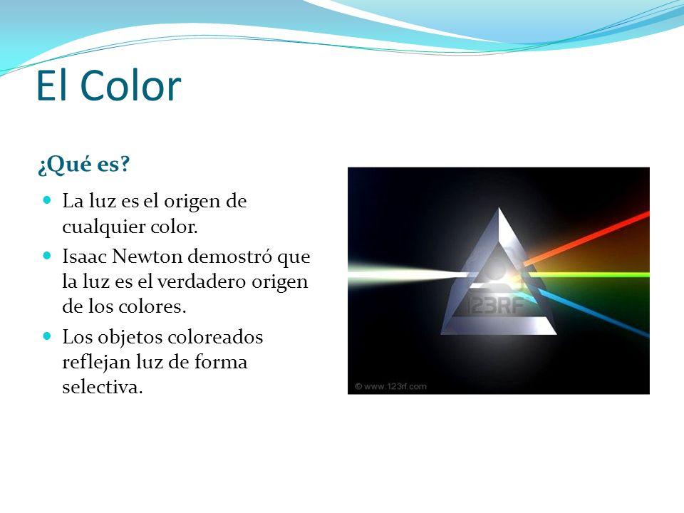 El Color ¿Qué es? La luz es el origen de cualquier color. Isaac Newton demostró que la luz es el verdadero origen de los colores. Los objetos coloread
