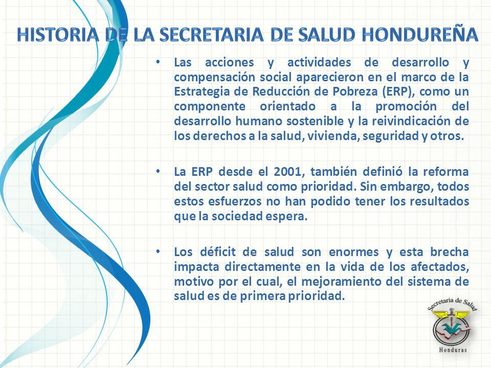 Las acciones y actividades de desarrollo y compensación social aparecieron en el marco de la Estrategia de Reducción de Pobreza (ERP), como un compone