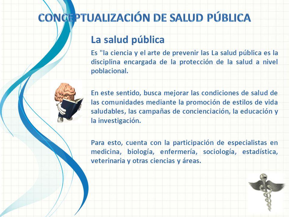La salud pública Es