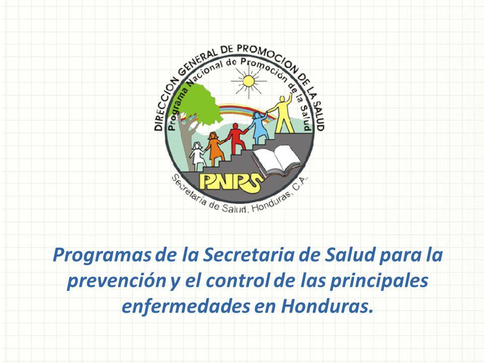 Programas de la Secretaria de Salud para la prevención y el control de las principales enfermedades en Honduras.
