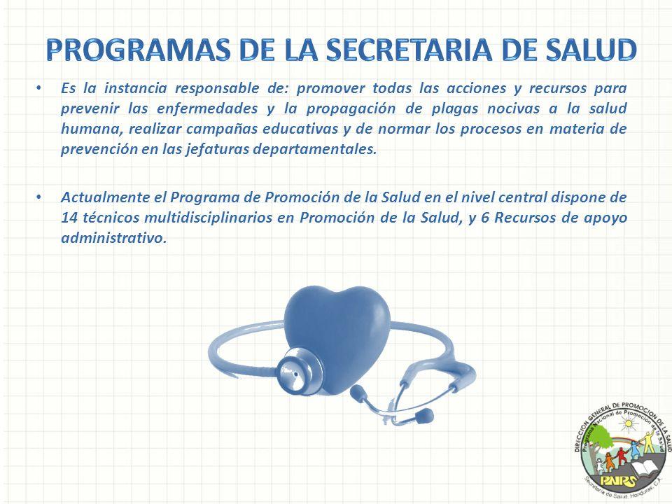 Es la instancia responsable de: promover todas las acciones y recursos para prevenir las enfermedades y la propagación de plagas nocivas a la salud hu