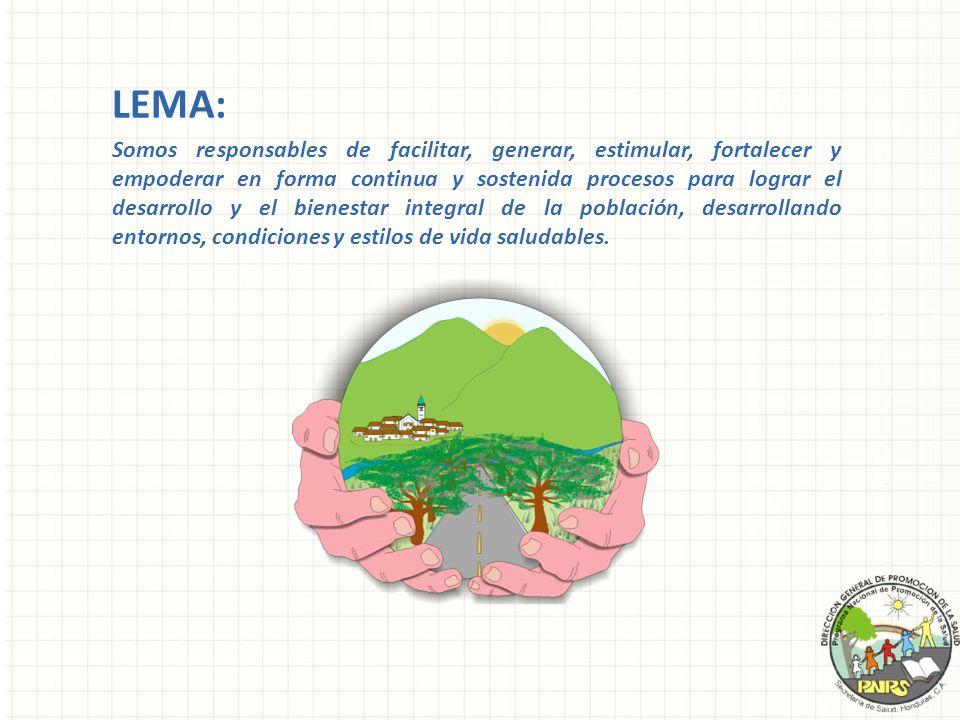 LEMA: Somos responsables de facilitar, generar, estimular, fortalecer y empoderar en forma continua y sostenida procesos para lograr el desarrollo y e