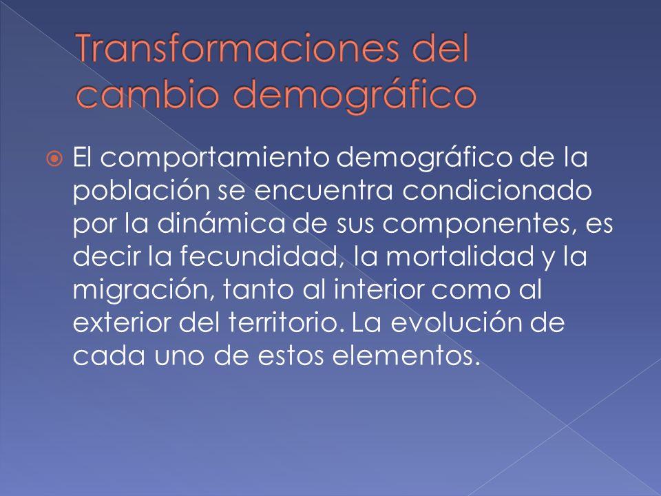 El comportamiento demográfico de la población se encuentra condicionado por la dinámica de sus componentes, es decir la fecundidad, la mortalidad y la