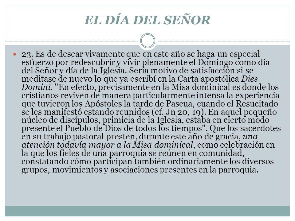 EL DÍA DEL SEÑOR 23.
