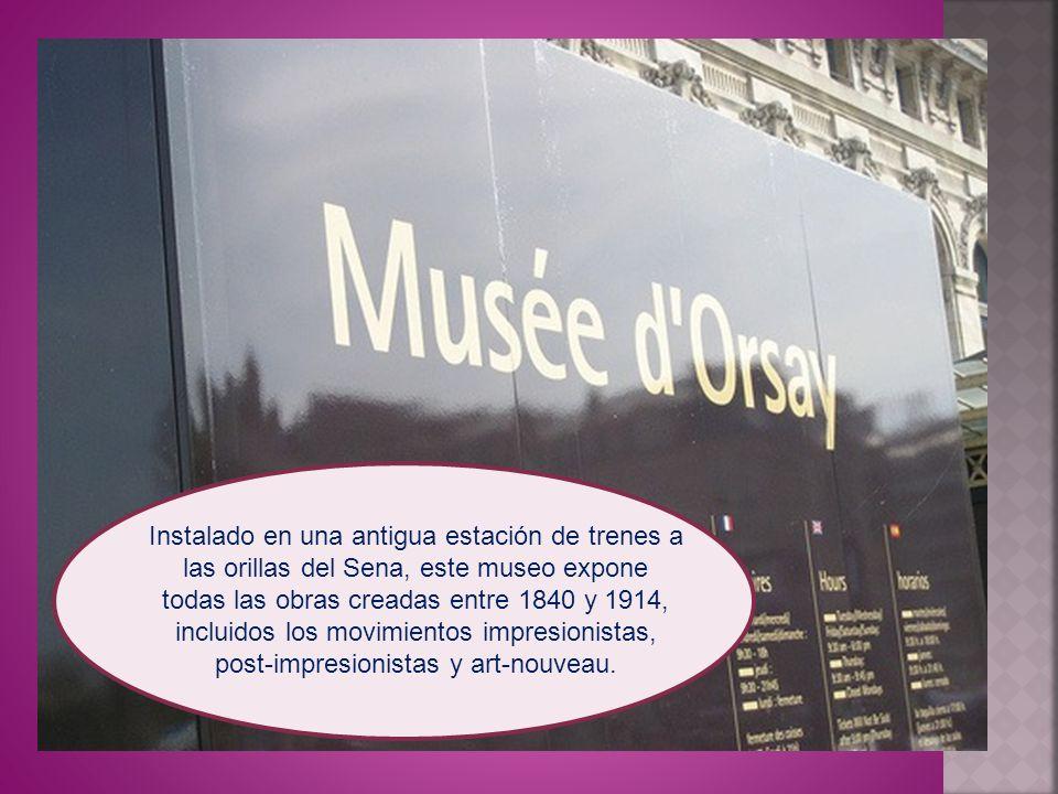 Instalado en una antigua estación de trenes a las orillas del Sena, este museo expone todas las obras creadas entre 1840 y 1914, incluidos los movimie