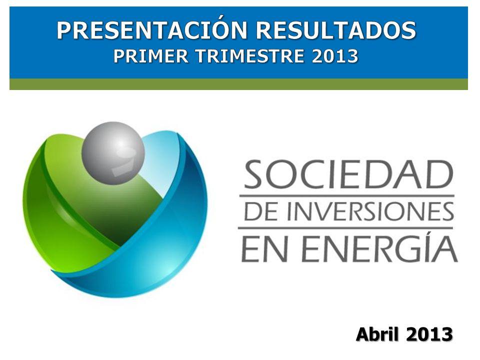 RESULTADOS FINANCIEROS SOCIEDAD DE INVERSIONES EN ENERGIA (SIE) Abril 2013 ´