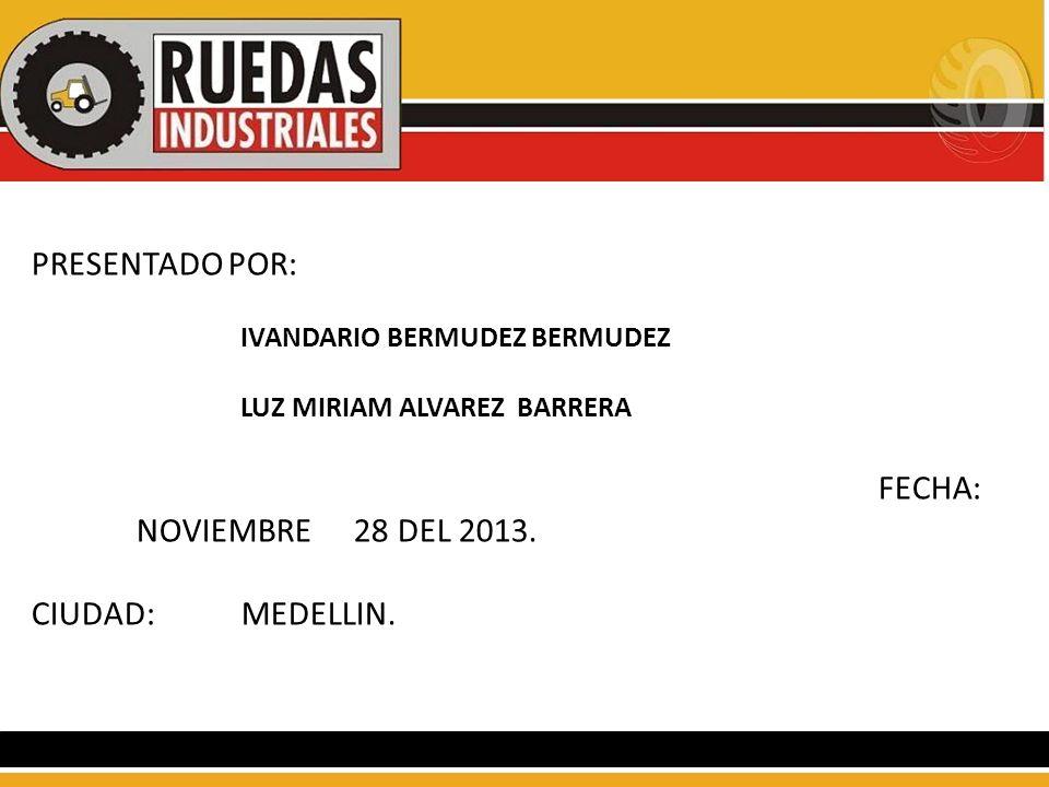 PRESENTADO POR: IVANDARIO BERMUDEZ BERMUDEZ LUZ MIRIAM ALVAREZ BARRERA FECHA: NOVIEMBRE 28 DEL 2013. CIUDAD:MEDELLIN.