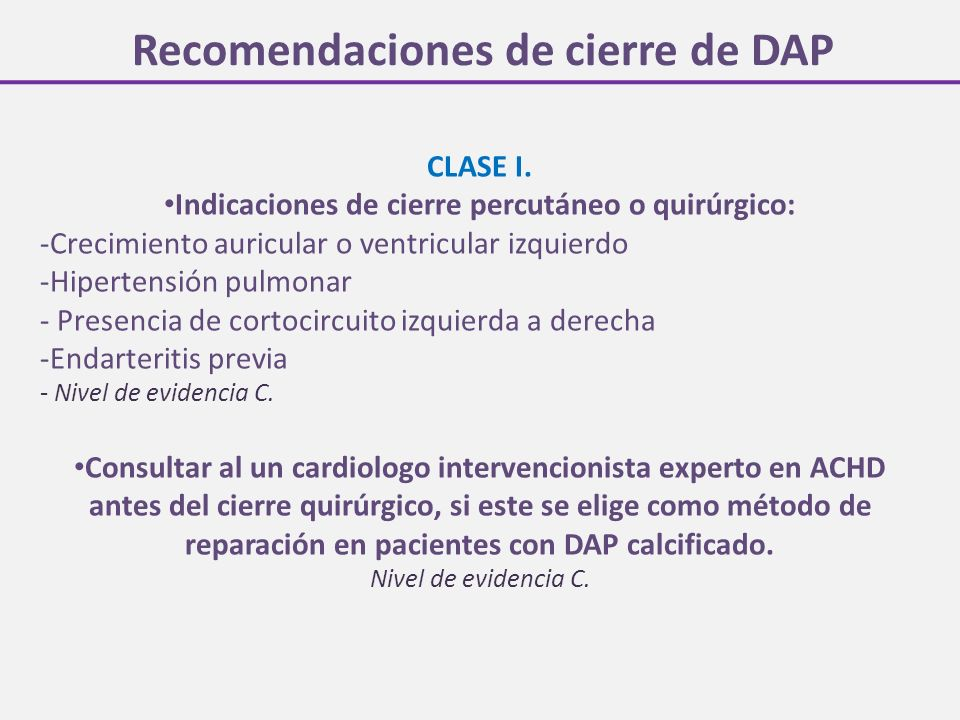 Recomendaciones de cierre de DAP CLASE I.