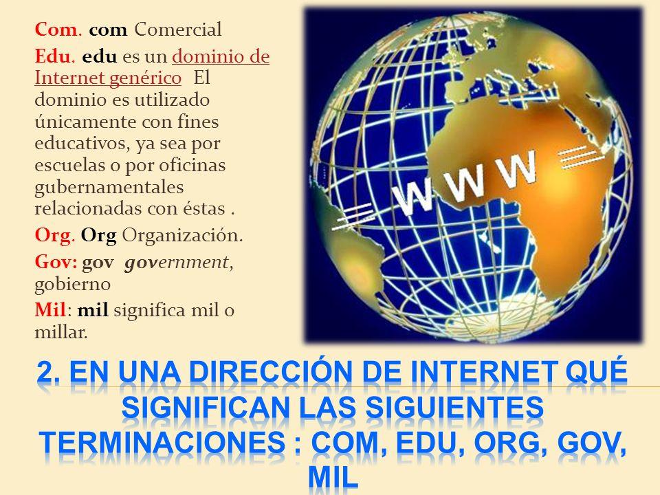 Com.com Comercial Edu.
