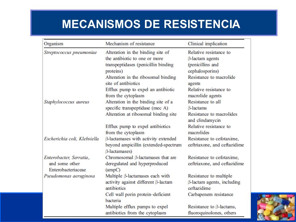 Comité de Prevención y Control de Infecciones Asociadas a la Atención de Salud MECANISMOS DE RESISTENCIA