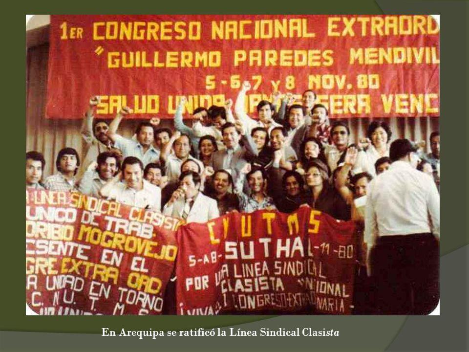En Arequipa se ratificó la Línea Sindical Clasista