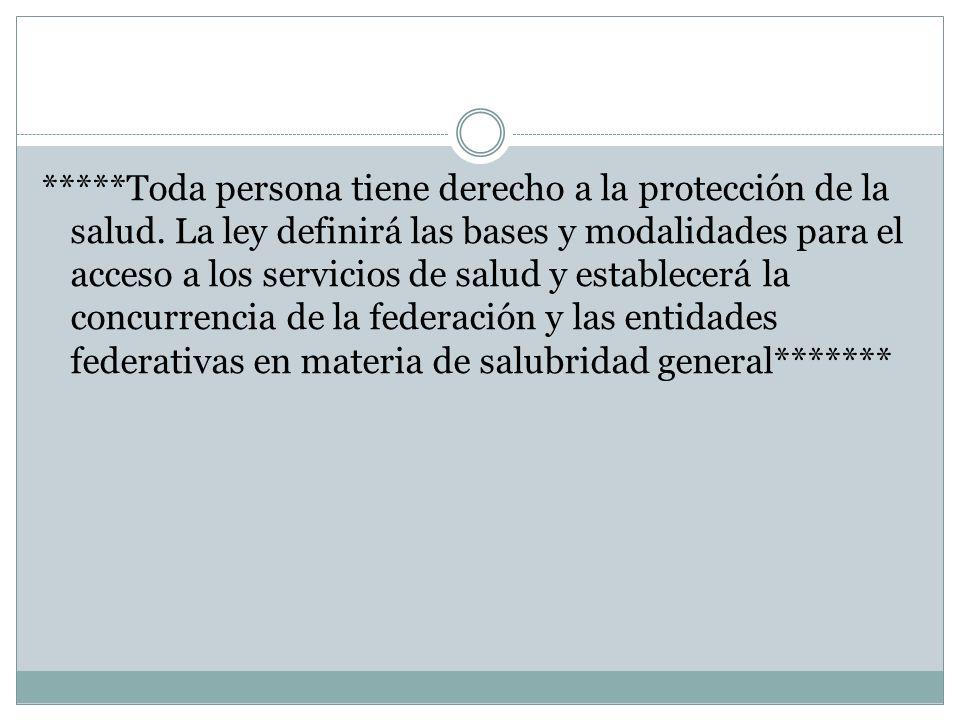 II. Ley general de salud Titulo primero Disposiciones Generales
