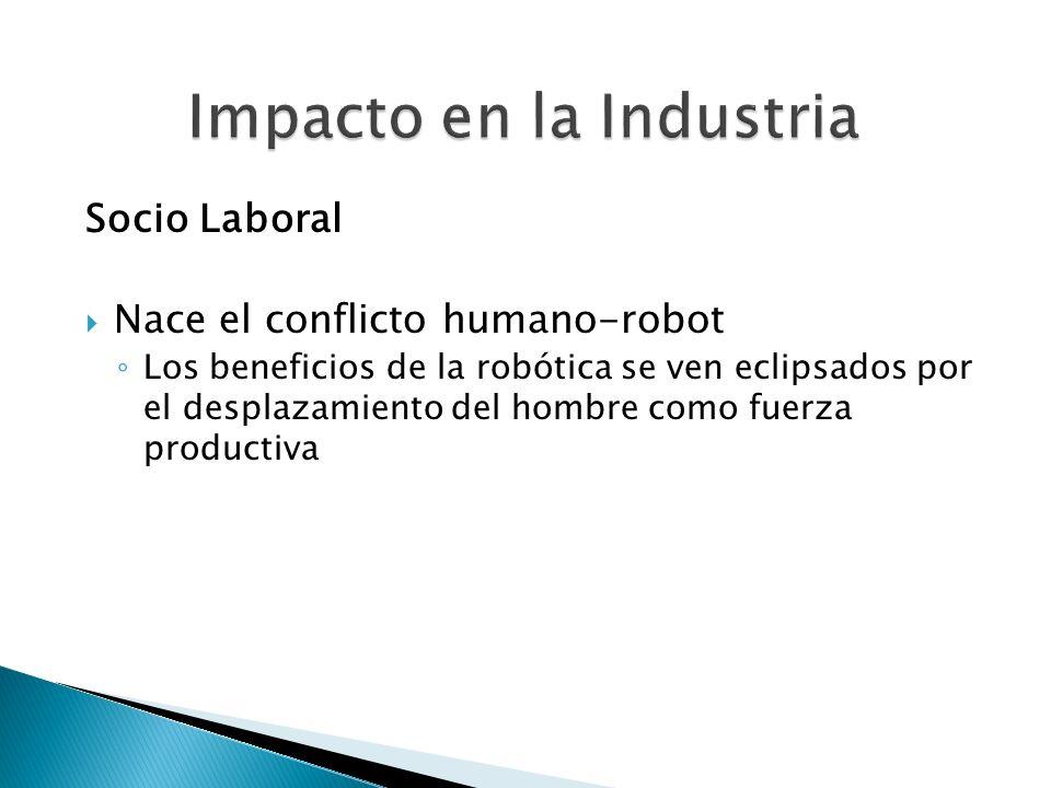 Socio Laboral Nace el conflicto humano-robot Los beneficios de la robótica se ven eclipsados por el desplazamiento del hombre como fuerza productiva