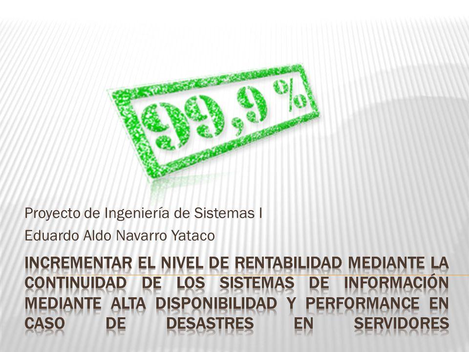 Proyecto de Ingeniería de Sistemas I Eduardo Aldo Navarro Yataco