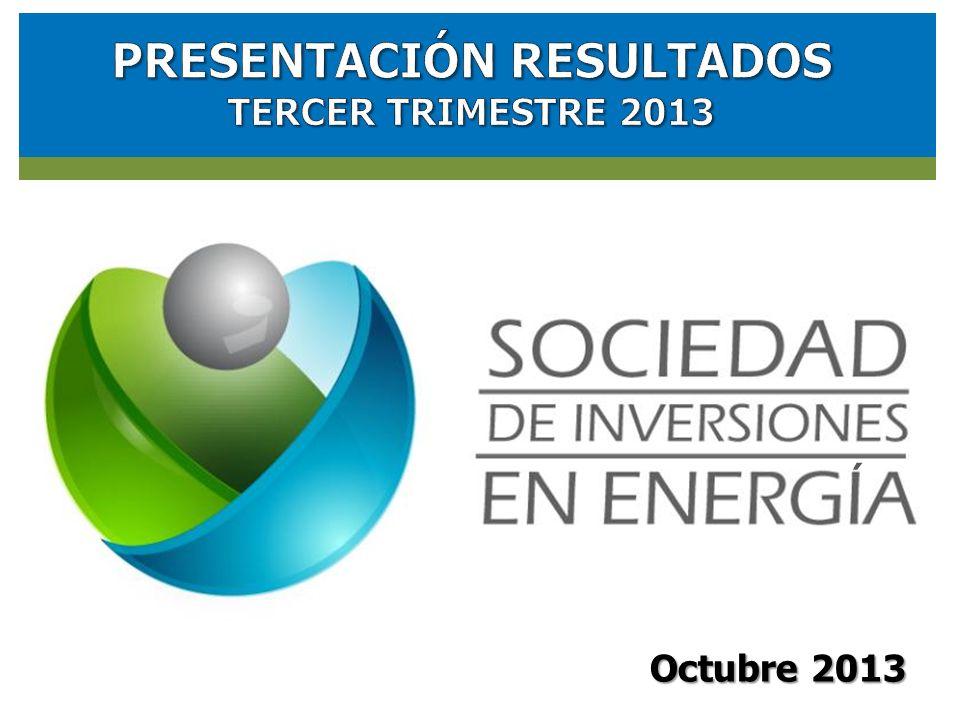 RESULTADOS FINANCIEROS SOCIEDAD DE INVERSIONES EN ENERGIA (SIE) Octubre 2013 ´