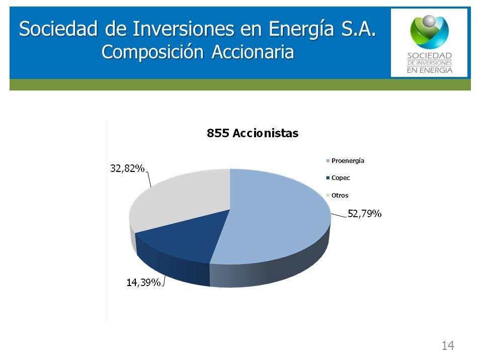 RESULTADOS FINANCIEROS SOCIEDAD DE INVERSIONES EN ENERGIA (SIE) Sociedad de Inversiones en Energía S.A. Composición Accionaria 14