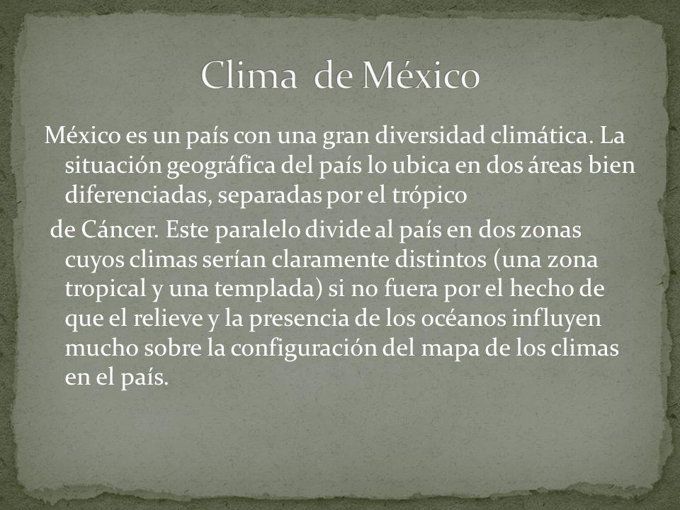 México es un país con una gran diversidad climática.