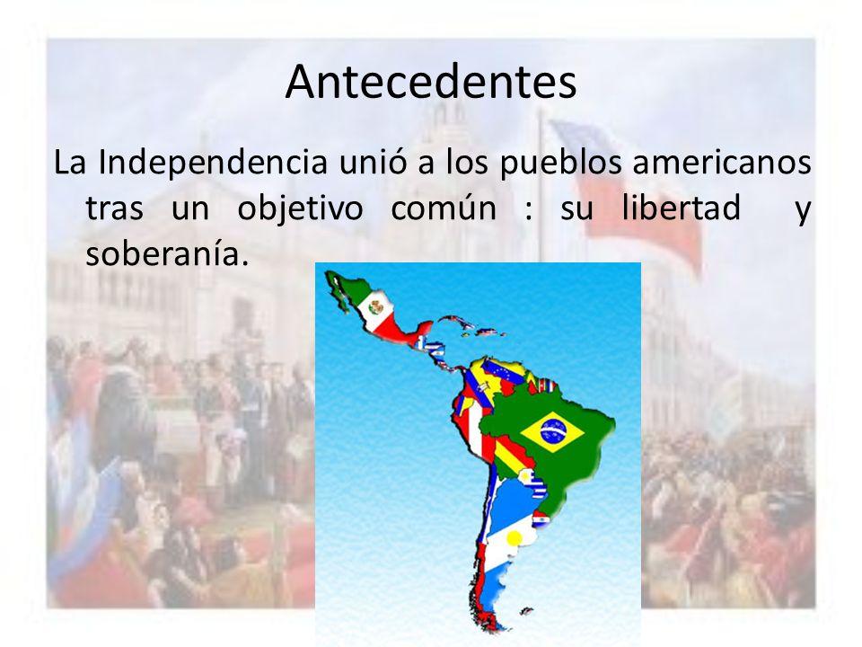ANTECEDENTES HISTÓRICOS : Desde principios del siglo XVI,la mayoría de los pueblos americanos había permanecido bajo la dominación del Imperio español.