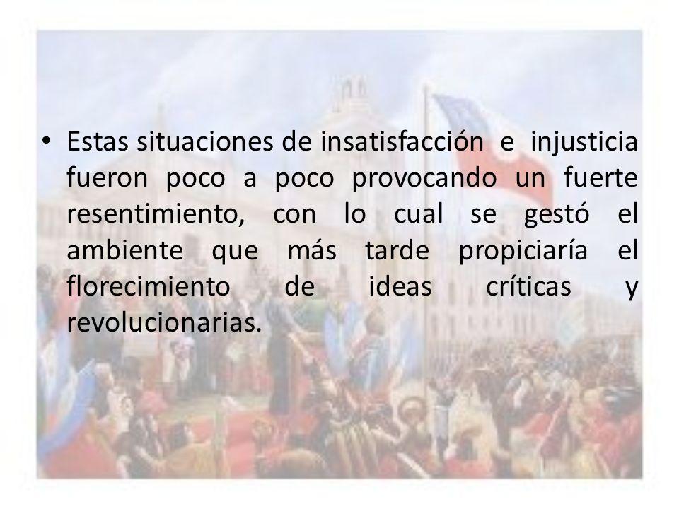 El MONOPOLIO comercial, por otra parte, impedía la Protección y el desarrollo de la Industria americana, en tanto que los criollos se veían obligados a pagar altos y variados IMPUESTOS, a la corona española.