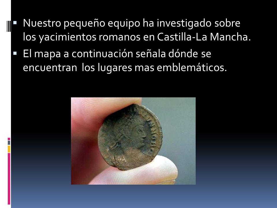 Nuestro pequeño equipo ha investigado sobre los yacimientos romanos en Castilla-La Mancha. El mapa a continuación señala dónde se encuentran los lugar