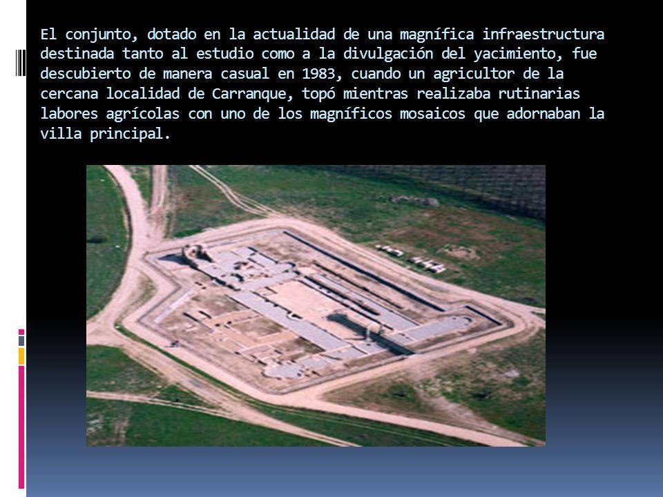 El conjunto, dotado en la actualidad de una magnífica infraestructura destinada tanto al estudio como a la divulgación del yacimiento, fue descubierto
