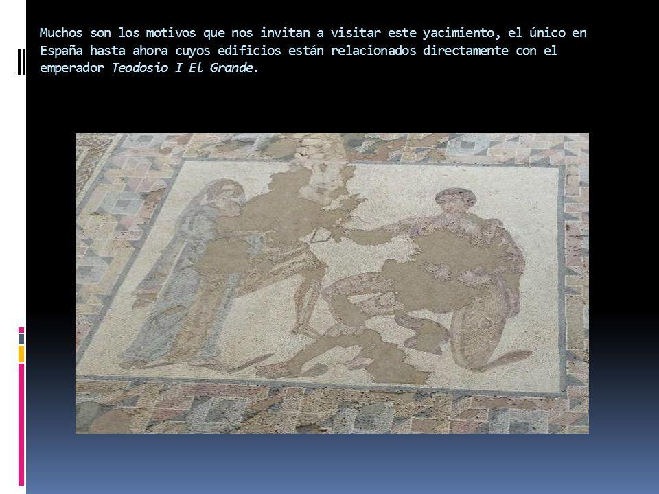 Muchos son los motivos que nos invitan a visitar este yacimiento, el único en España hasta ahora cuyos edificios están relacionados directamente con e