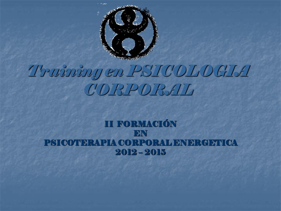 Training en PSICOLOGIA CORPORAL II FORMACIÓN EN PSICOTERAPIA CORPORAL ENERGETICA 2012 – 2015